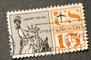 C63 Liberty, 15c, Redrawn, Circ. single, not tagged, Vic's Stamps Stash