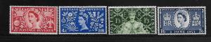 GREAT BRITAIN, 313-16 , MNH , QEII, CORONATION