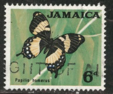 Jamaica Scott 223 Used 1964 butterfly stamp