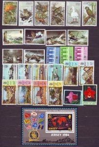 Z657 JLstamps 1984 jersey mnh year sets #320-47 topicals