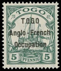 Togo Scott 36 Gibbons 2 Never Hinged Stamp