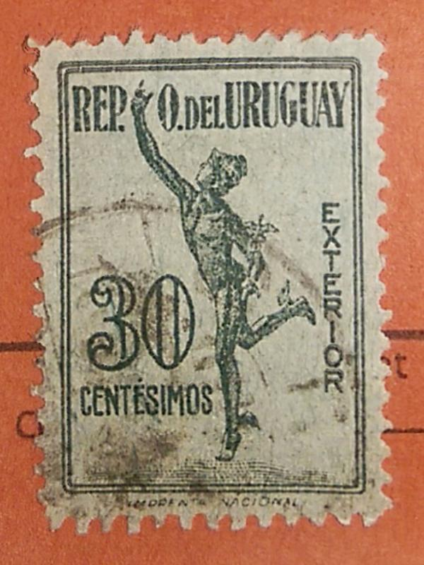 Uruguay 1922 Parcel Post Stamp #Q4 30c Used Postmarked.