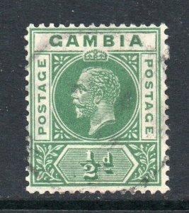 Gambia 1921 KGV ½d wmk MSCA SG 108 used