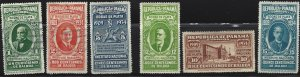 Panama #268-73, Set of 6, #268-70 are Used, #271-3 are MH
