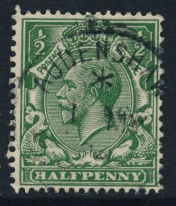GB - KGV SG 351 1/2d GREEN CANCELLED BY AUDENSHAW / MANCHESTER CDS (TAMESIDE)