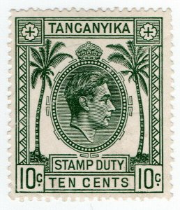 (I.B) KUT Revenue : Tanganyika Stamp Duty 10c