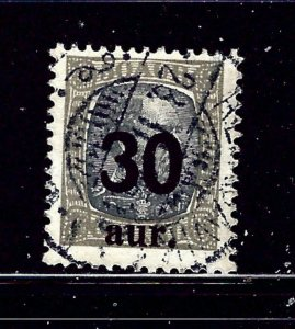 Iceland 137 Used 1925 surcharge