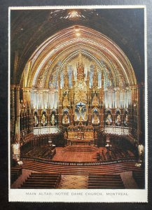 1960s Canada Picture Postcard Postage Due Cover To Washington DC USA Main Altar