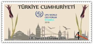 TURKEY / 2018, UPU WORLD CEO FORUM 2018, MNH, Mi: 4428