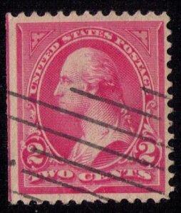 US Scott #279Bg Used Washington Machine Cancel Pink VF