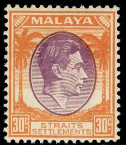 MALAYSIA - Staits Settlements SG287, 30c dull purple & orange, LH MINT. Cat £20.