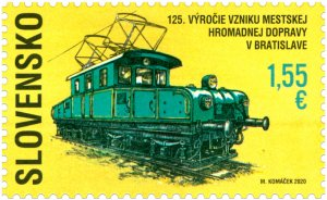 Slovakia stamps 2020 - 125 years since the foundation of public transport in Bra