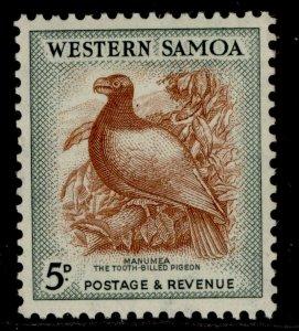 SAMOA GVI SG223, 5d brown & deep green, NH MINT. Cat £10.