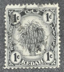 DYNAMITE Stamps: Malaya Kedah Scott #24 – USED