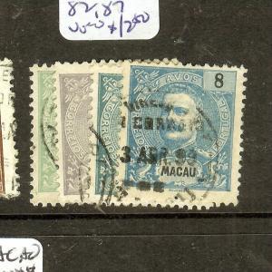 MACAU CHINA  (B0602BB) SC77, 80, 82, 87  VFU