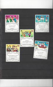 Korea DPR 775-9  w/Tabs MNH Year of the Child