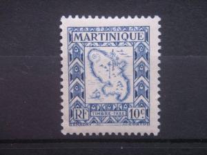 MARTINIQUE, 1947, MNH 10c, POSTAGE DUE Scott J37