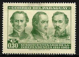 Paraguay 1961 Scott# 582 MH (thin)