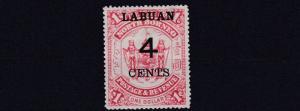 LABUAN  1895  S G 75  4C ON $1  SCARLET MH