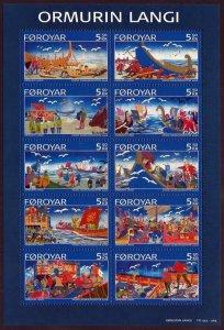Faroe Islands - 2006- Ballad Long Serpent MNH S/Sheet  # 472
