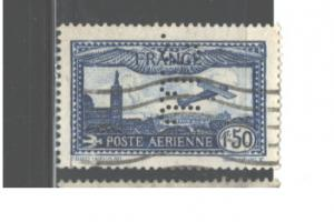 FRANCE  PERFIN.j.J.C. 1930 - 1931 #C6a USED  $21.00