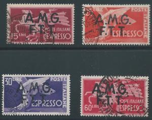 Italy - Trieste A, Scott #E1-E4,Used, V.F., Complete Set