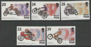 ISLE OF MAN SG567/71 1993 MANX MOTOR CYCLING EVENTS MNH