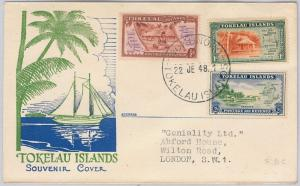 TOKELAU  -  POSTAL HISTORY - SG 1 - 3 on  FDC COVER - 1948