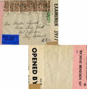 Ireland 1/2d Sword of Light and 2 1/2d Coat of Arms (6) 1941 Cluainin Ui Ruai...