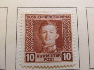 Bosnia & Herzegovina 1917 10h fine MH* stamp A13P18F70