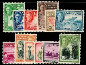GOLD COAST SG135-146, 1948 COMPLETE SET, M MINT. Cat £85.
