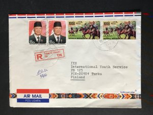 Indonesia #780//B242 Cover to Finland (1970-1999) Cover #1425