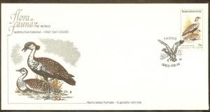 Bophuthatswana FDC SC# 114 Red Crested Korhaan L120
