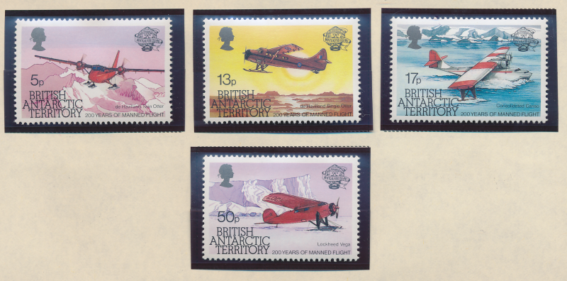 British Antarctic Territory (B.A.T.) Stamps Scott #117 To 120, Mint Never Hin...