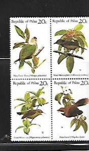 PALAU, 8A, MNH, SS, BLOCK OF 4, BIRDS