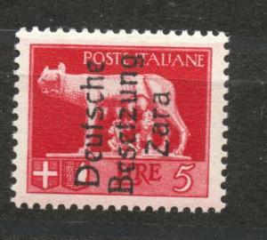 German Occupation Zara, Mi.15 , MNH
