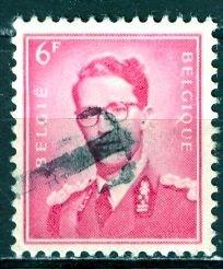 Belgium; 1958: Sc. # 460: O/Used Tax Ovprt Single Stamp
