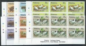 TOKELAU 1986 Animals set in plate blocks of 6 MNH........................41465