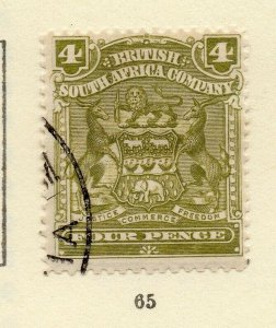 Rhodesia 1900s Early Issue Fine Used 4d. NW-170439
