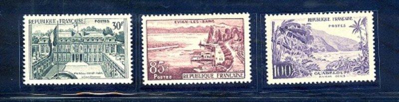 FRANCE SC#907-909 MNH