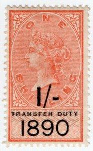 (I.B) QV Revenue : Transfer Duty 1/- (1890)