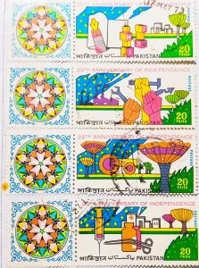 Pakistan:1972:(20% reduced price)Anniversary:Set of 4 Single Stamps:Used