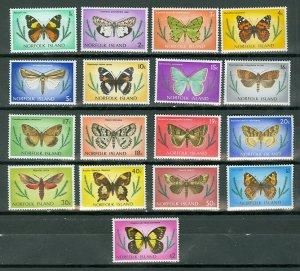 NORFOLK BUTTERFLIES #201-217...SET...MNH...$6.55