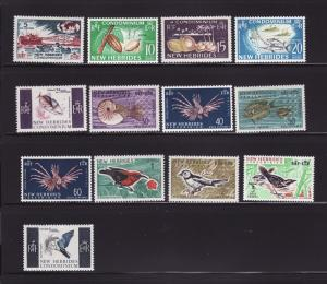 New Hebrides, British 96-107 Set MNH Various