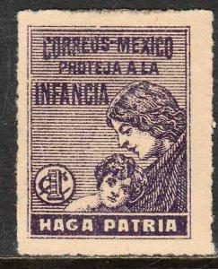 MEXICO RA8, 1¢ Postal Tax. UNUSED, H OG. F-VF..