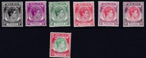 PENANG   1949 - 52   S G  3 - 21  VARIOUS  VALUES TO $2  MH  & MNH  CAT £68