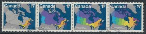 Canada  SG 1013a  Used  set of 4 Canada Day  1981  SC# 893a see scan