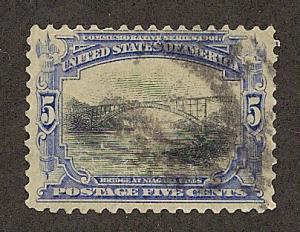 297  Used,  5c. Pan-American,  scv: $18