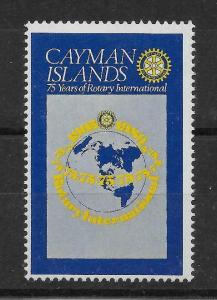 CAYMAN ISLANDS SG499a 1980 ROTARY 50c MISSING BLACK MNH