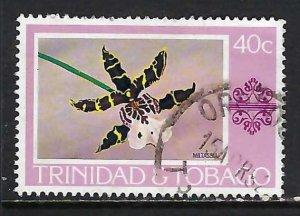 TRINIDAD & TOBAGO 286 VFU ORCHID X499-6